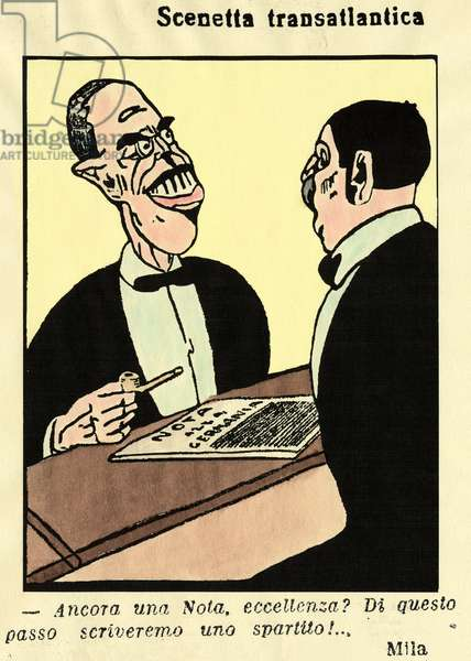 Transatlantic Cartoon, 1915