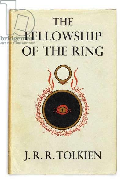 """Sci-Fi Literature: Cover of the First Volume of the Trilogy of """"The Lord of the Rings"""" by Joan Ronald Reuel Tolkien (1892-1973), 1954 - 1956"""
