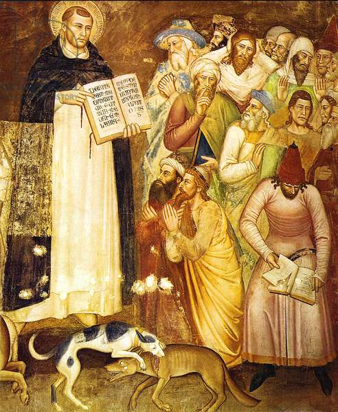 Saint Thomas Aquinas before the heretics (fresco)