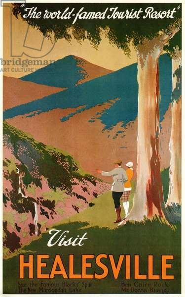 Poster promoting Tourism in Healesville, Victoria, Australia, c.1920