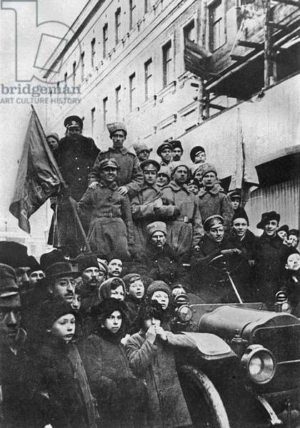 Russian Revolution, 1917 (b/w photo)