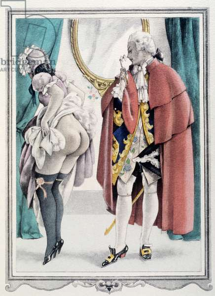 Casanova looking at a maid (illustration)