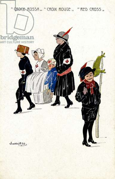 The Red Cross, 1916 (colour litho)