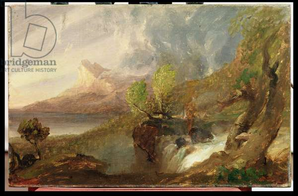 Study for a Wild Scene, 1831 (oil on canvas)
