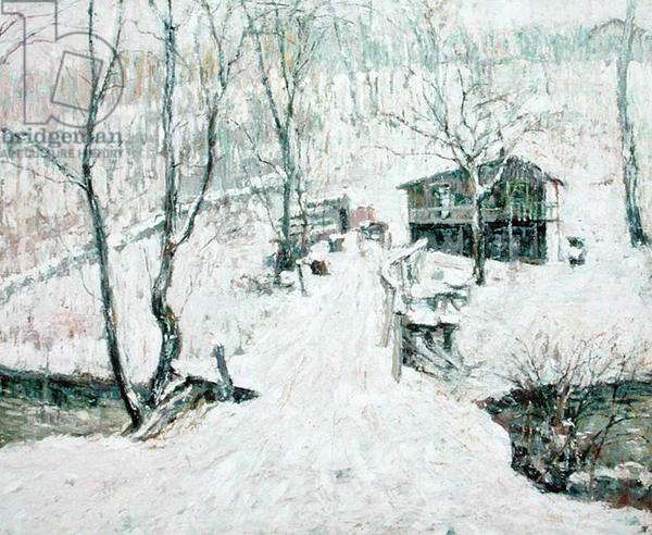 Country Scene, Winter, 1910 (oil on canvas)