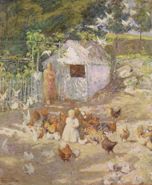 Barnyard, c.1890-1900 (oil on canvas)