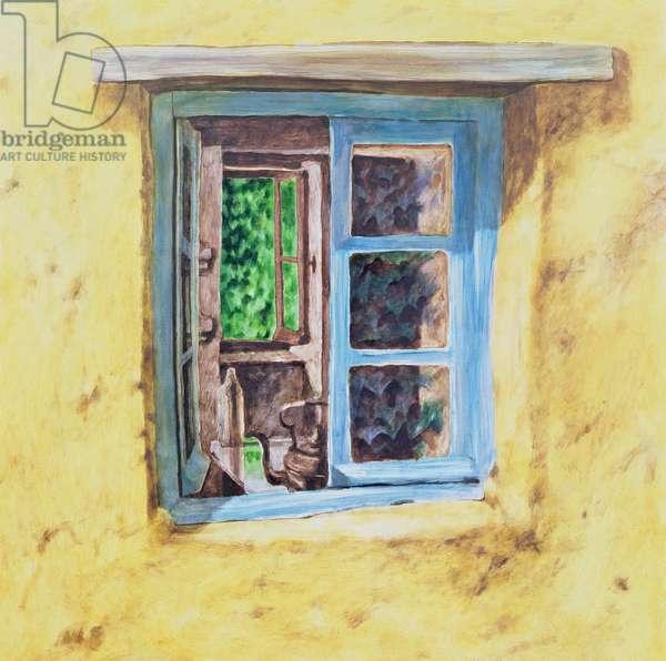 Kitchen Window (oil on panel)