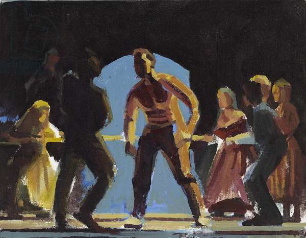 Oliver, the fight scene, study, 2009 (oil on linen)
