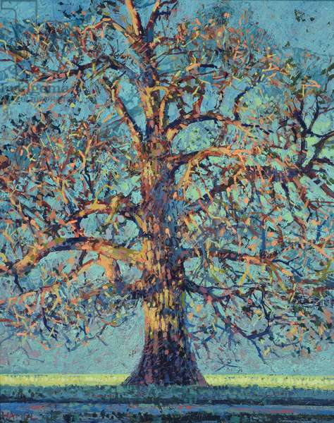 Chestnut Tree in Winter, 2004 (oil on panel)