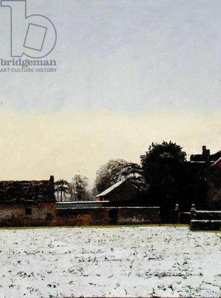 Church Farmyard in the Snow, 2000 (oil on panel)
