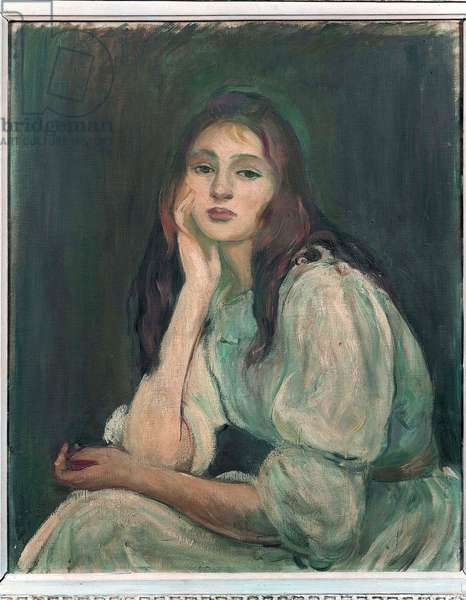Julie Daydreaming, 1894 (oil on canvas)