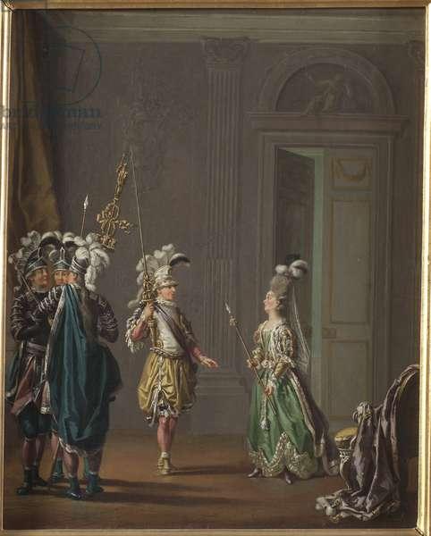 Gustave III de Suede et Ulrika Eleonora von Fersen - King Gustav III of Sweden and Ulrika Eleonora von Fersen, by Hillestroem, Pehr (1732-1816). Oil on canvas. Dimension : 50x40 cm. Nationalmuseum Stockholm