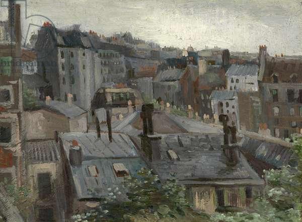 View from Vincent's Studio par Gogh, Vincent, van (1853-1890). Oil on cardboard, size : 30,1x40,8, 1886, Van Gogh Museum, Amsterdam