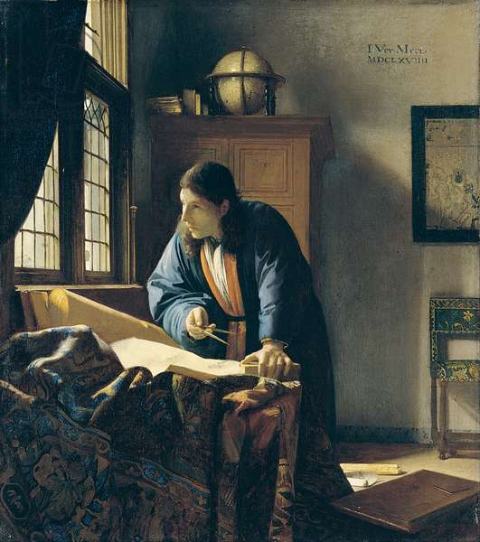 The Geographer, 1668-69 (oil on canvas)