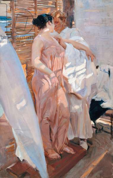 The Pink Robe, After the Bath, 1916 (oil on canvas)