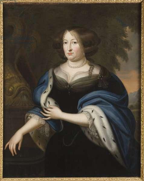Edwige Sophie de Brandebourg - Portrait of Margravine Hedwig Sophie of Brandenburg (1623-1683), Anonymous . Oil on canvas. Dimension : 125x102 cm. Nationalmuseum Stockholm