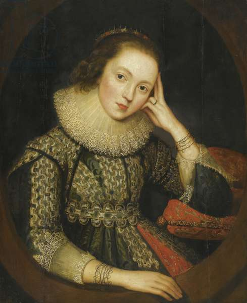 Mary Stuart, Queen of Scots (oil on wood)