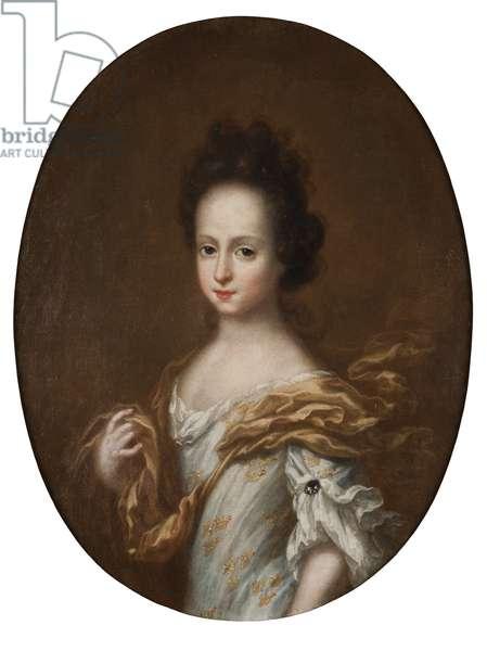 Edwige Sophie de Suede -  Portrait of Duchess Hedvig Sophia of Holstein-Gottorp (1681-1708), Queen of Sweden, by Ehrenstrahl, David Kloecker (1629-1698). Oil on canvas. Dimension : 74x57 cm. Nationalmuseum Stockholm