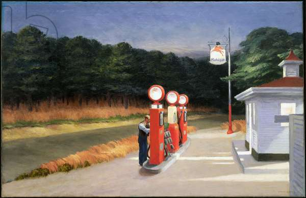 Gas, 1940 (oil on canvas)