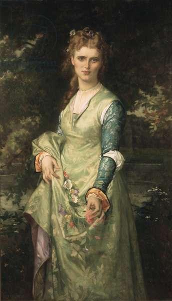 Christina Nilsson en Ophelie - Christina Nilsson (1843-1921) as Ophelia, by Cabanel, Alexandre (1823-1889). Oil on canvas, 1873. Dimension : 153x90 cm. Nationalmuseum Stockholm