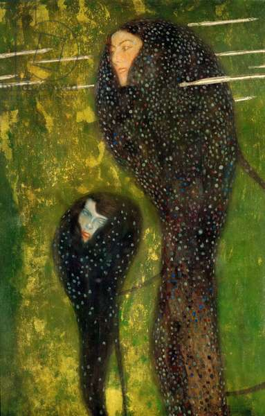 Nymphs (Silver Fish) - Klimt, Gustav (1862-1918) - 1899 - Oil on canvas - 82x52 - Bank Austria Creditanstalt, Vienna