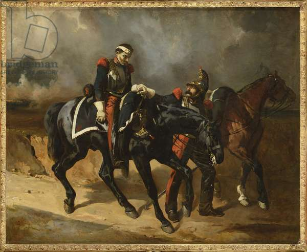 Le cuirassier blesse - The wounded Cuirassier, by De Dreux, Alfred (1810-1860). Oil on canvas, 1830s. Private Collection