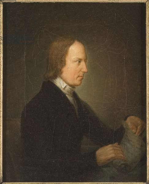 Lorenzo Hammarskold, critique litteraire et historien de la litterature  - Portrait of Lorenzo Hammarskoeld (1785-1827), by Lundqvist, Anders (1803-1853). Oil on canvas. Dimension : 26x21 cm. Nationalmuseum Stockholm