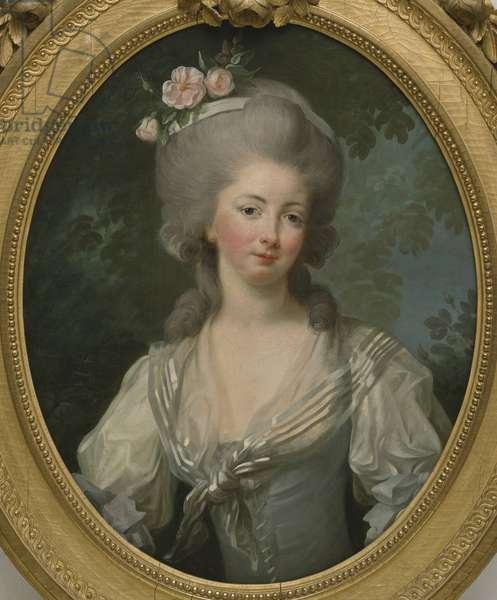 Ernestine Frederique, Princesse de Croy - Portrait of Ernestine-Frederique, Princess de Croy, by Vigee-Lebrun, Marie Louise Elisabeth (1755-1842). Oil on canvas. Dimension : 74x60 cm. Nationalmuseum Stockholm