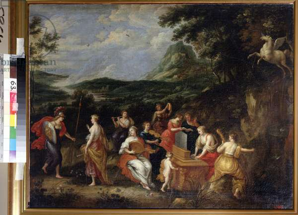 Pallas Athena and Muses