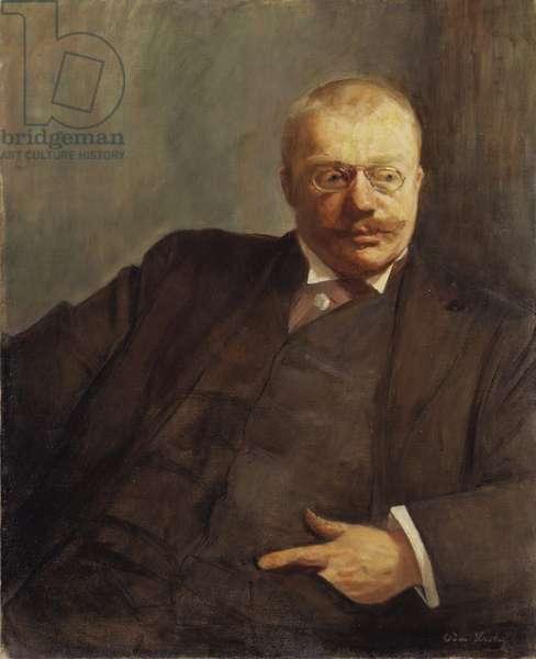 Gunnar Heiberg, ecrivain, journaliste et auteur dramatique norvegien - Portrait of the poet Gunnar Heiberg (1857-1929), by Krohg, Oda (1860-1935). Oil on canvas, 1900. Dimension : 78x64 cm. Nationalmuseum Stockholm
