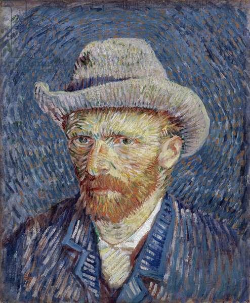 Self-Portrait with Grey Felt Hat par Gogh, Vincent, van (1853-1890). Oil on canvas, size : 44,5x37,2, 1887, Van Gogh Museum, Amsterdam