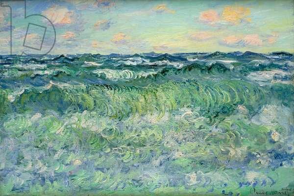 Seascape, Pourville, 1881 (oil on canvas)