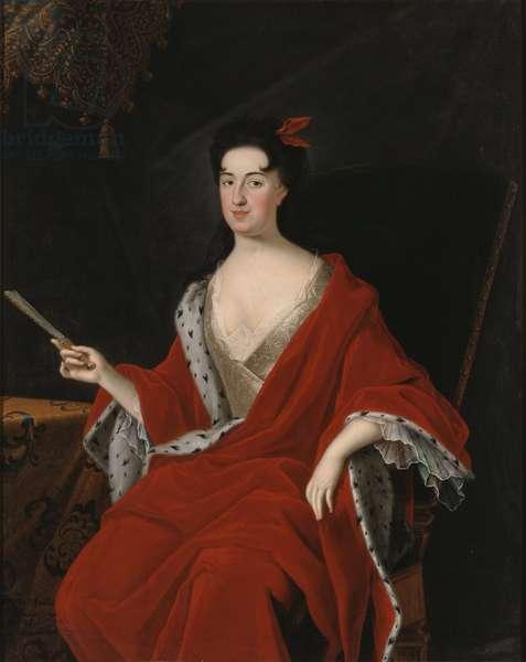Catherine Opalinska, reine de Pologne - Portrait of Catherine Opalinska (1680-1747), Queen of Poland, by Starbus, Johan (1679-1724). Oil on canvas. Dimension : 145x117 cm. Nationalmuseum Stockholm