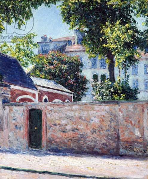 Houses in Argenteuil - Peinture de Gustave Caillebotte (1848-1894), 1883 - Oil on canvas, 65,8x53,6 - Private Collection