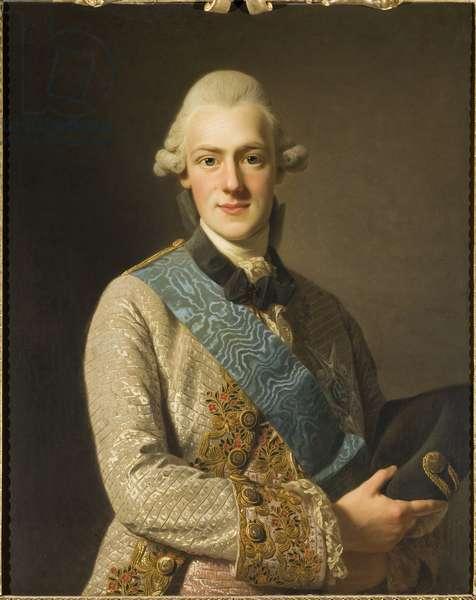Prince Frederic Adolphe de Suede - Portrait of Prince Frederick Adolf of Sweden (1750-1803), Duke of Oestergoetland, by Roslin, Alexander (1718-1793). Oil on canvas, 1770. Dimension : 82x65 cm. Nationalmuseum Stockholm