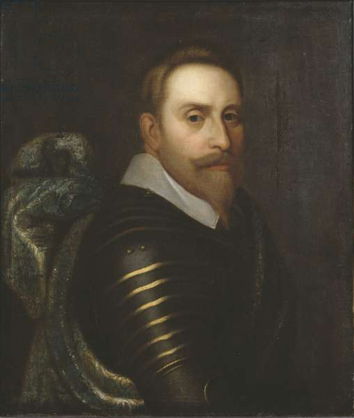 Gustave II Adolphe, dit le Grand ou le lion du Nord - Portrait of the King Gustav II Adolf of Sweden (1594-1632), Anonymous . Oil on canvas. Dimension : 76x64 cm. Nationalmuseum Stockholm