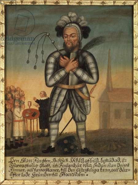Birger Magnusson de Bjalbo - Birger Jarl (1200-1266), Anonymous . Oil on wood. Dimension : 36x26 cm. Nationalmuseum Stockholm