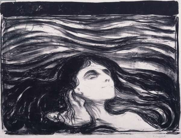 Lovers in the Waves, 1896 (lithograph)