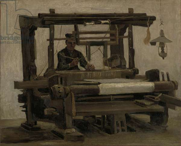 Weaver at the Loom, 1884 (oil on canvas)