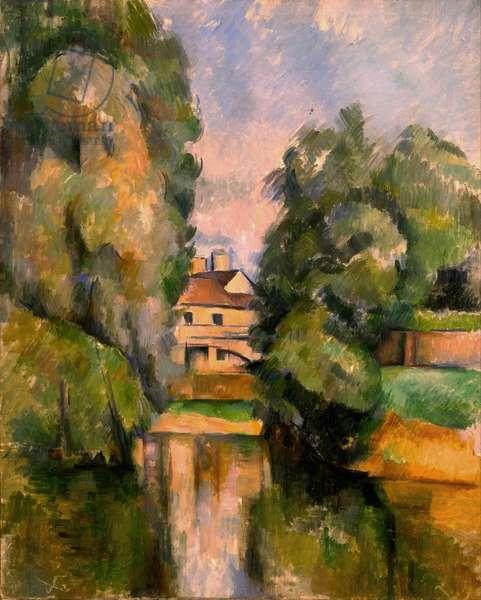 Maison pres du fleuve - House by a River, by Cezanne, Paul (1839-1906). Oil on canvas, c. 1890. Dimension : 81x65 cm. Israel Museum, Jerusalem