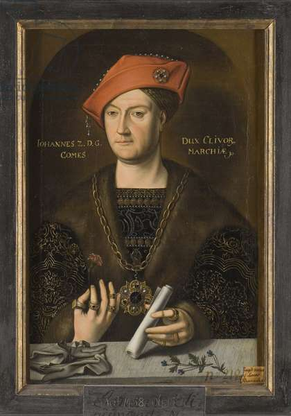 Jean II de Cleves, dit le Clement - Portrait of John II (1458-1521), Duke of Cleves, Count of Mark, Anonymous . Oil on canvas. Dimension : 66x45 cm. Nationalmuseum Stockholm