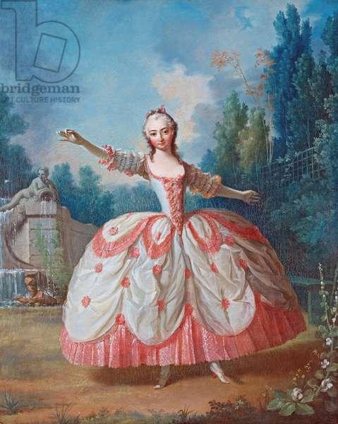 Portrait of Barbara Campanini (1721-1799), known as La Barbarina (La Barberina) - Peinture de Jean Philippe Delaroche (1710-1767) - 1721 - Oil on wood - 68,5x56,5 - Private Collection