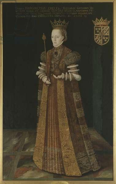 Marguerite Lejonhufvud, reine consort de Suede, seconde epouse de Gustave I Vasa - Queen Margaret Leijonhufvud of Sweden (1516-1551), by Uther, Johan Baptista van (active 1562-1597). Oil on canvas. Dimension : 195x121 cm. Nationalmuseum Stockholm