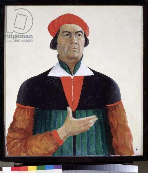 Self-portrait 1933 State Russian Museum - peinture de Kasimir Severinovich Malevitch (Malevich, Malevic) (1878-1935),