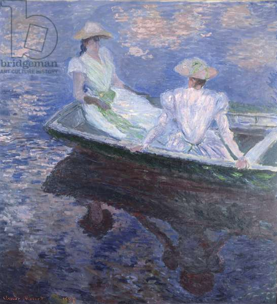 On the Boat, Oil on canvas by Claude Monet