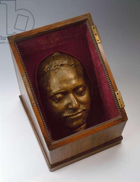 Pierre le grand - Death mask of Peter I - Oeuvre de  Bartolomeo Carlo Rastrelli(1675-1744), 1725 - Bronze - State Hermitage, St. Petersburg