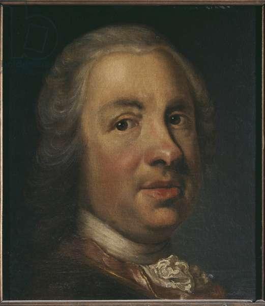 Charles Emil Lewenhaupt l'Aine, general commandant militaire suedois - Portrait of Charles Emil Lewenhaupt the Elder (1691-1743), by Scheffel, Johan Henrik (1690-1781). Oil on canvas. Dimension : 32x28 cm. Nationalmuseum Stockholm