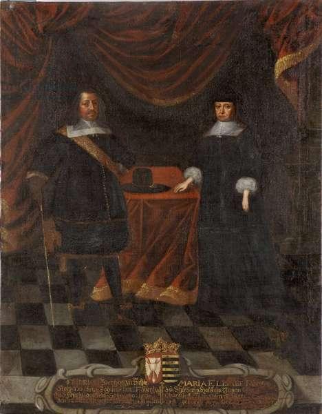 Frederic III de Holstein Gottorp et Marie Elisabeth de Saxe - Duke Frederick III of Holstein-Gottorp (1597-1659) und Duchess Marie Elisabeth (1610-1684), Anonymous . Oil on canvas. Dimension : 103,5x79,5 cm. Nationalmuseum Stockholm