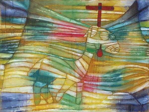 """""L'agneau"""" (The Lamb) Peinture de Paul Klee (1879-1940) - 1920 Dim 31,5x40,7 cm Staedtische Galerie im Staedelschen Kunstinstitut, Frankfurt am Main"