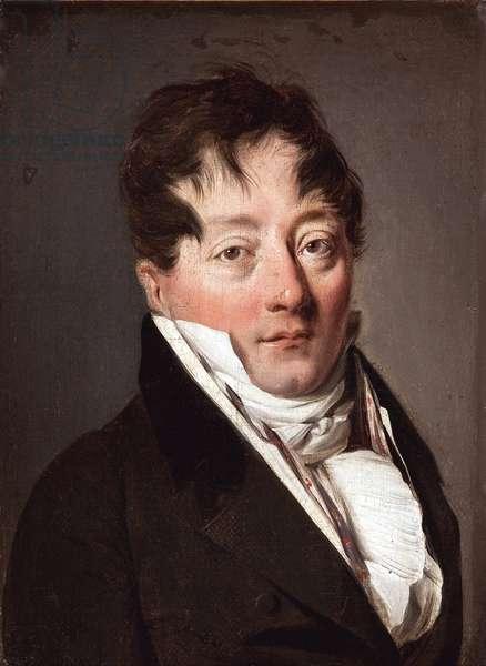 Portrait of Alexandre Balthazar Laurent Grimod de la Reyniere (1758-1837) par Boilly, Louis-Leopold (Louis Leopold) (1761-1845), - Oil on canvas, 22x17 - Musee Marmottan Monet, Paris